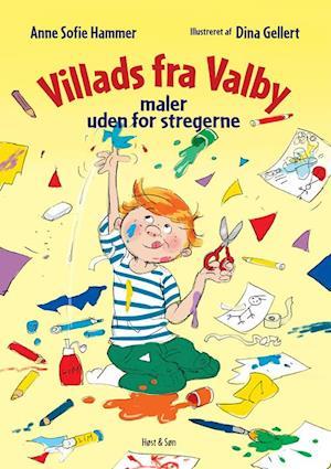 Bog, hæftet Villads fra Valby maler uden for stregerne af Anne Sofie Hammer