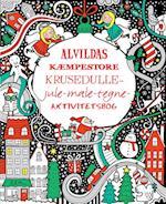 Alvildas kæmpestore krusedulle-jule-male-tegne-aktivitetsbog