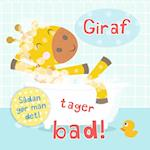 Giraf tager bad! (Sådan gør man det)