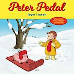 Peter Pedal leger i sneen