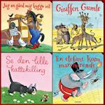 Elefantastiske børnesange. Gaveæske med 4 papbøger