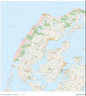 Trap Danmark: Kort over Thisted Kommune