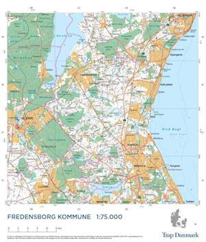 Trap Danmark: Kort over Fredensborg Kommune