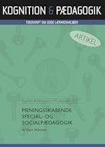 Meningsskabende special- og socialpædagogik af Hans Månsson