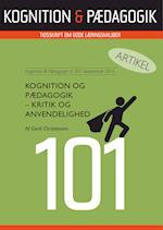 Kognition og Pædagogik - kritik og anvendelighed (Artikel fra Kognition Pædagogik, nr. 101)