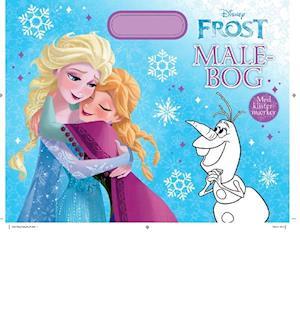 Bog, paperback Disney malebog med håndtag Frost