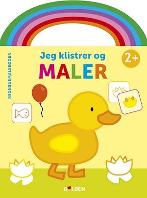 Regnbuemalebog - Jeg klisterer og maler (and)