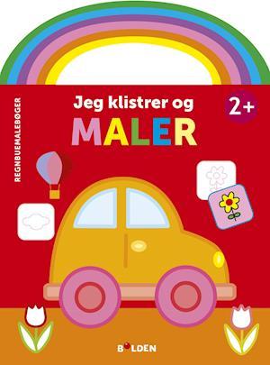 Regnbuemalebog - Jeg klistrer og maler (bil)