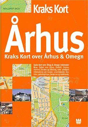 Bog, indbundet Kraks kort over Århus og omegn