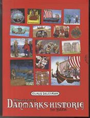Bog, indbundet Ill. Danmarks-Historie for Folket, samlet af Claus Deleuran