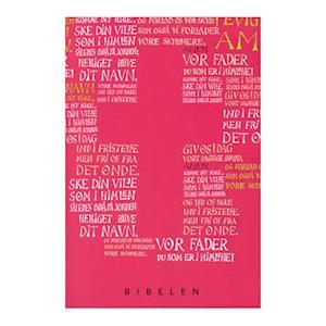 Bog, hæftet Konfirmandbibel, pink/rød udgave