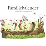 Familiekalender med illustrationer fra Højskolesangbogen for børn