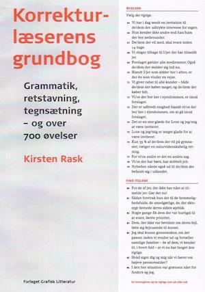Bog paperback Korrekturlæserens grundbog af Kirsten Rask