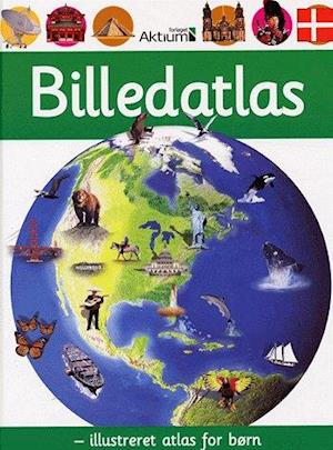 Bog, indbundet Billedatlas - illustreret atlas for børn af Chris Oxlade, Anita Ganeri