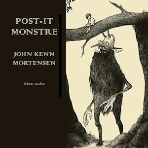 Bog, indbundet Post-it-monstre af John Kenn Mortensen