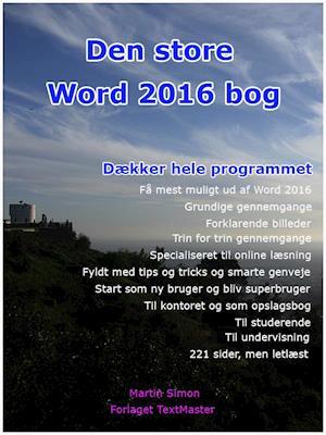 Den store Word 2016 bog af Martin Simon