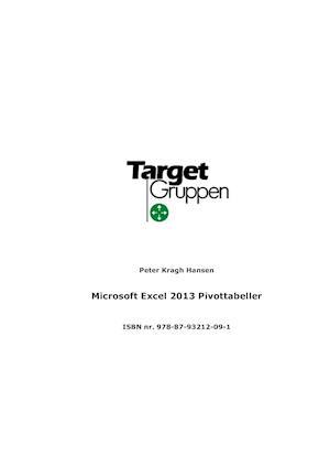 Microsoft Excel 2013 Pivottabeller af Peter Kragh Hansen