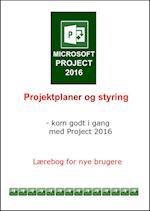 Microsoft Project 2016. projektplaner og styring