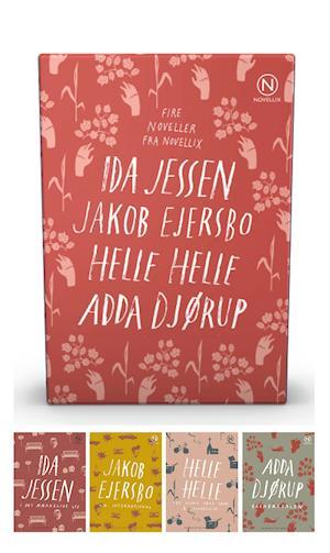 Gaveæske med fire noveller af Jessen, Ejersbo, Helle & Djørup