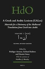 A Greek and Arabic Lexicon Galex (Handbook of Oriental Studies Section 1 the Near and Middle East A Greek and Arabic Lexicon, nr. 1)