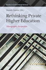 Rethinking Private Higher Education (STUDIES IN CRITICAL SOCIAL SCIENCES, nr. 101)
