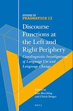 Discourse Functions at the Left and Right Periphery af Kate Beeching