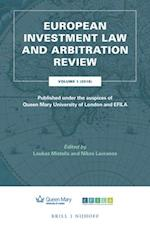 European Investment Law and Arbitration Review (European Investment Law and Arbitration Review, nr. 1)