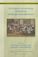 The Company in Law and Practice (Legal History Library: Studies in the History of Private Law)
