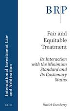 Fair and Equitable Treatment (Brill Research Perspectives)