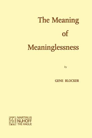The Meaning of Meaninglessness