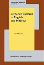 Sentence Patterns in English and Hebrew (Constructional Approaches to Language)