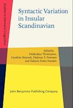 Syntactic Variation in Insular Scandinavian (Studies in Germanic Linguistics, nr. 1)