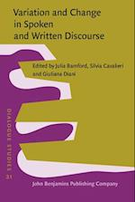 Variation and Change in Spoken and Written Discourse (Dialogue Studies)