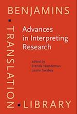 Advances in Interpreting Research (Benjamins Translation Library)