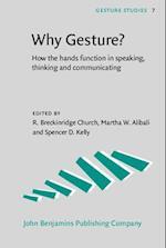 Why Gesture? (Gesture Studies)