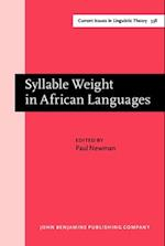 Syllable Weight in African Languages (Current Issues in Linguistic Theory)