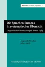 Die Sprachen Europas in systematischer Ubersicht