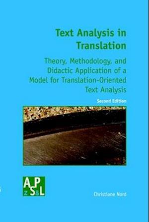 Bog, paperback Text Analysis in Translation af Christiane Nord