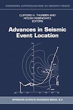 Advances in Seismic Event Location (Modern Approaches in Geophysics, nr. 18)
