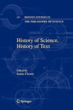 History of Science, History of Text af Karine Chemla