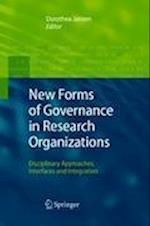 New Forms of Governance in Research Organizations af Dorothea Jansen