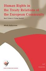 Human Rights in the Treaty Relations of the European Community (School of Human Rights Research Series, nr. 7)