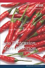 Less Pretension, More Ambition (WRR)