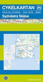 Sydvästra Skåne  1:90 000 (Cykelkartan, nr. 1)