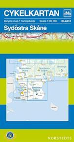Sydöstra Skåne  1:90 000 (Cykelkartan, nr. 2)