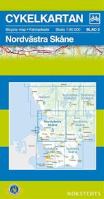 Nordvästra Skåne  1:90 000 (Cykelkartan, nr. 3)