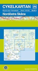 Nordöstra Skåne  1:90 000 (Cykelkartan, nr. 4)