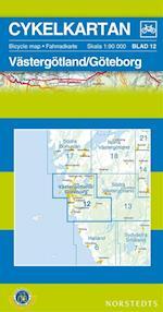 Västergötland / Göteborg  1:90 000 (Cykelkartan, nr. 12)