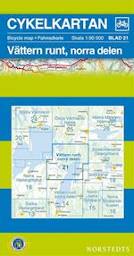 Vättern runt. Norra delen  1:90 000 (Cykelkartan, nr. 21)