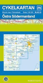 Östra Södermanland  1:90 000 (Cykelkartan, nr. 23)